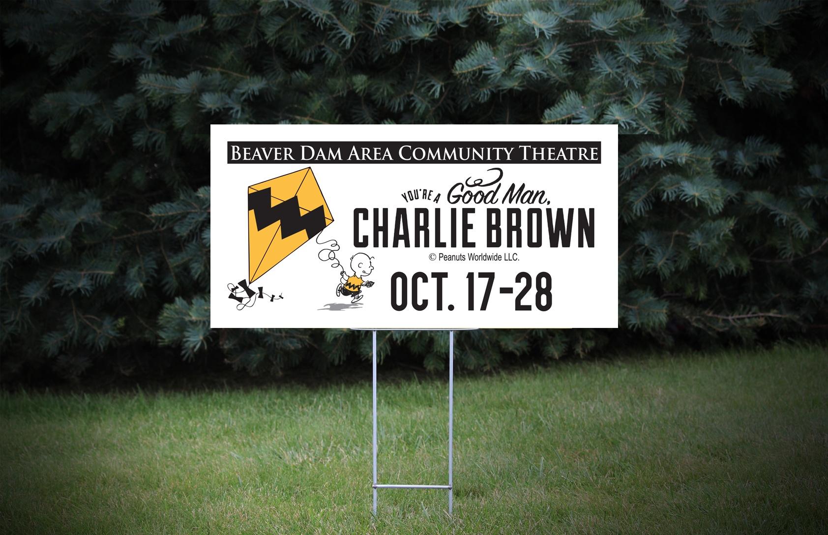 BDACT Charlie Brown 24″ x 12″ Coroplast Signs – Design