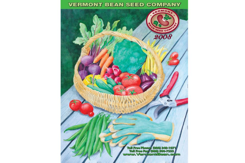 Vermont Bean Seed Company 2008 Catalog Cover Design Advertising 920 885 3100 Beaver Dam
